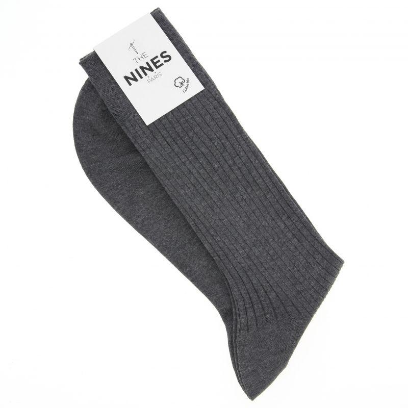 Chaussettes grises en coton du Nil bio