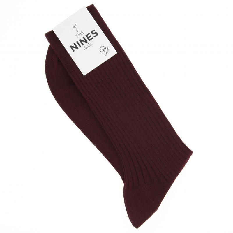 Chaussettes bordeaux en coton du Nil bio