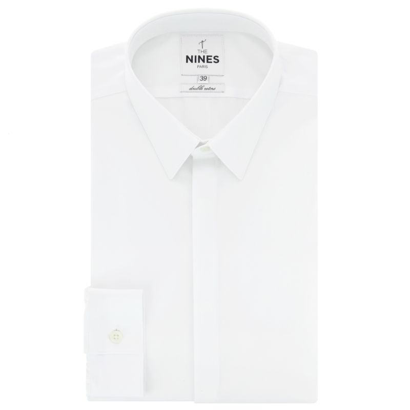 Chemise blanche col français