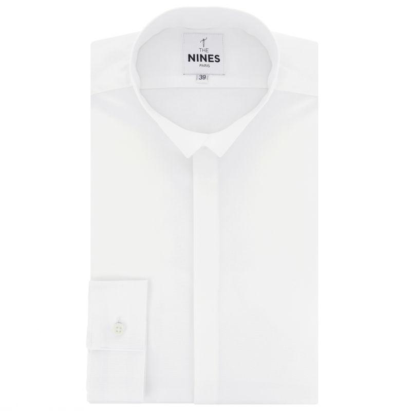 Chemise blanche en oxford bio col inversé