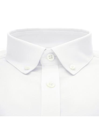 Chemise blanche en oxford bio col américain