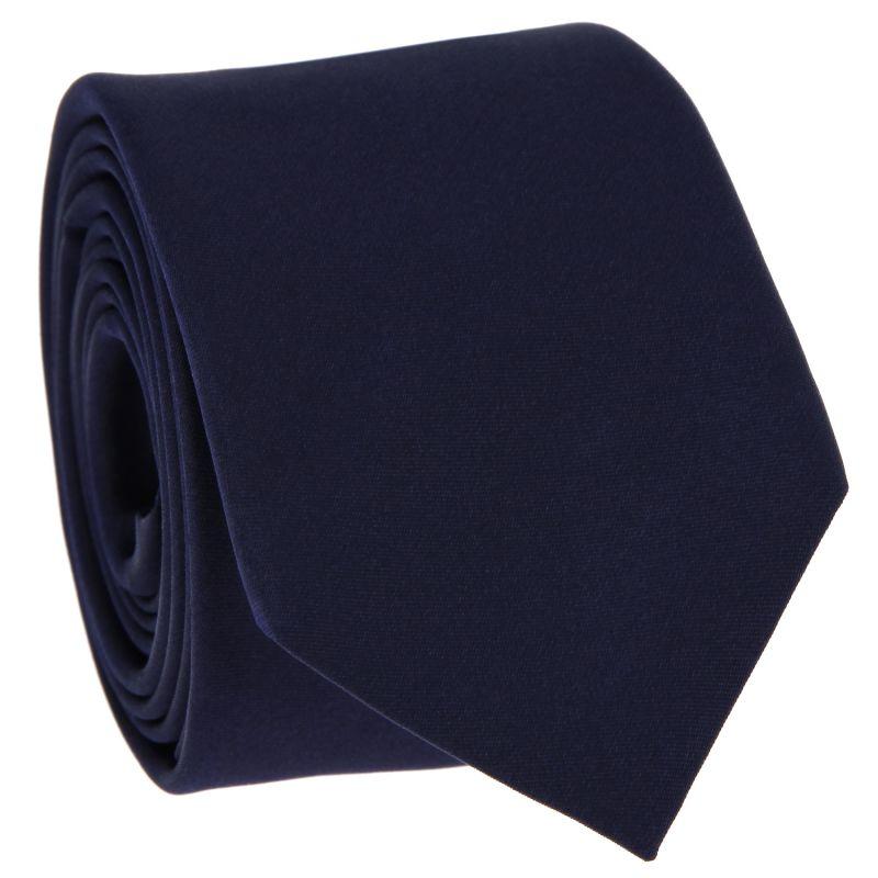 Cravate en satin bleu nuit - Monte Carlo