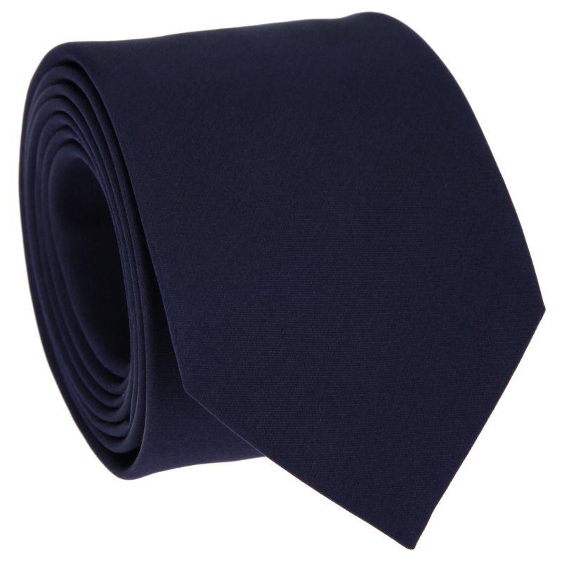 Cravate slim en satin bleu nuit - Monte Carlo