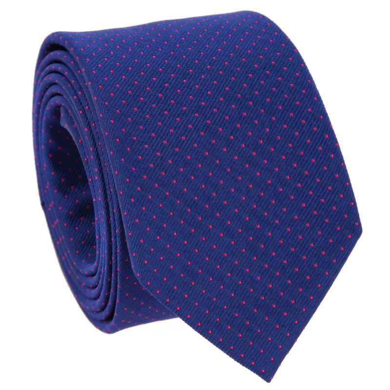 Cravates bleu cobalt à pois fuchsia - Washington DC