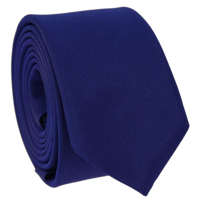 Cravate slim bleu indigo - Côme