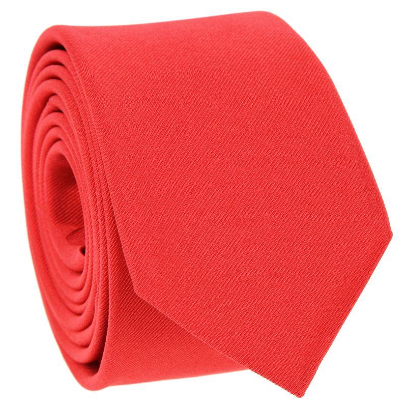 Cravate slim rouge corail - Côme