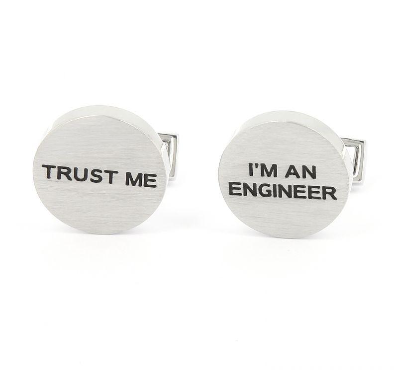 Boutons de manchette Trust Me I'm An Engineer
