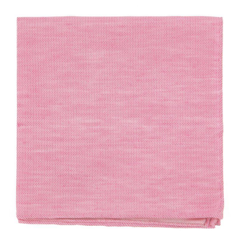 Pochette De Costume rose en soie et lin nattés - Bergame