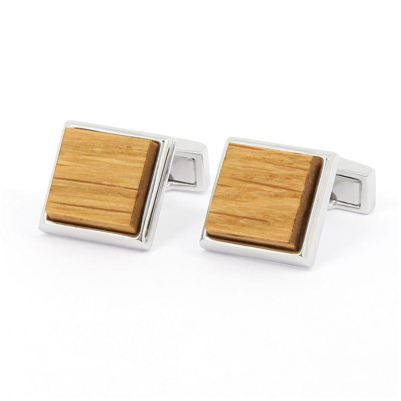 Boutons de manchette carrés en bois de chêne - Chevreuse
