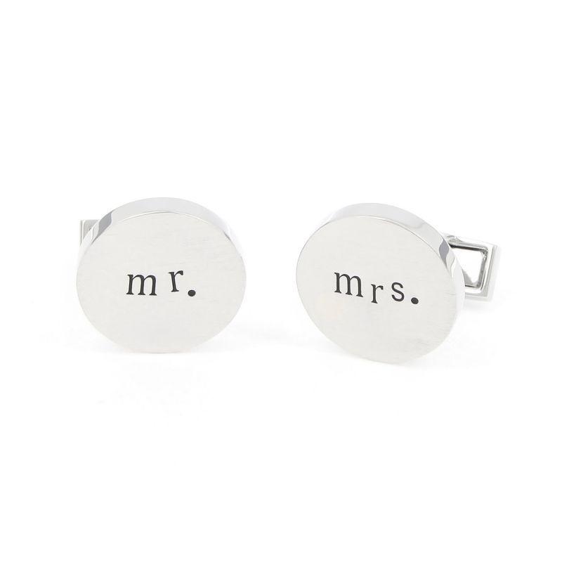 Boutons de manchette Mr. & Mrs.