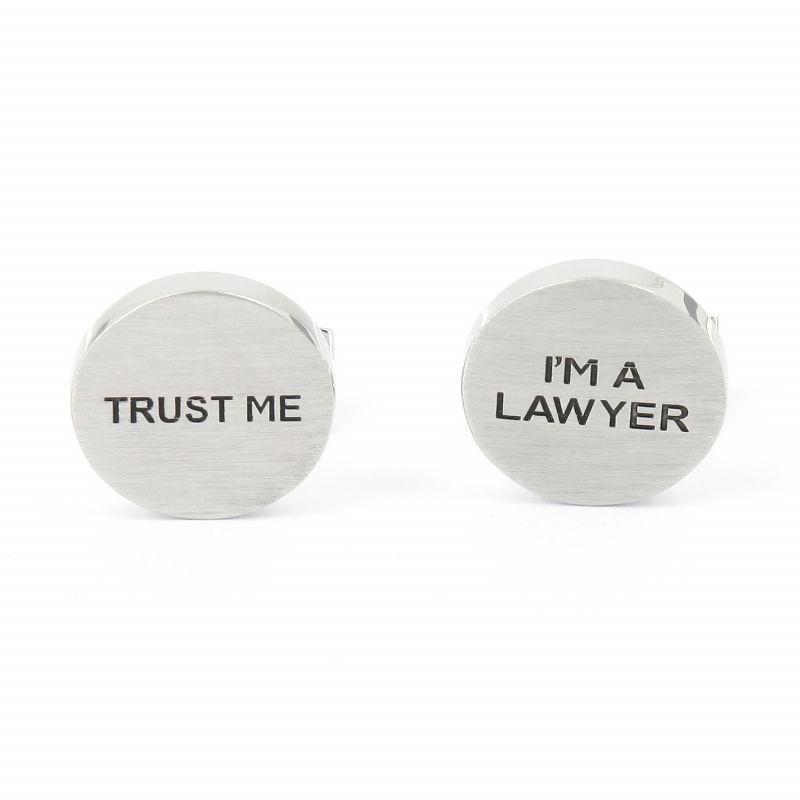 Boutons de manchette Trust Me I'm a Lawyer