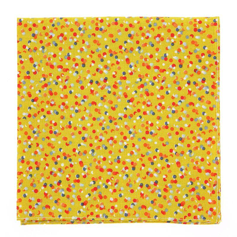 Pochette De Costume jaune à motif confettis