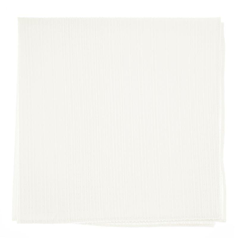 Pochette De Costume blanche en coton texturé