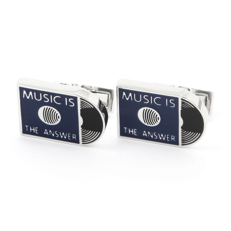 Boutons de manchette Music is the answer