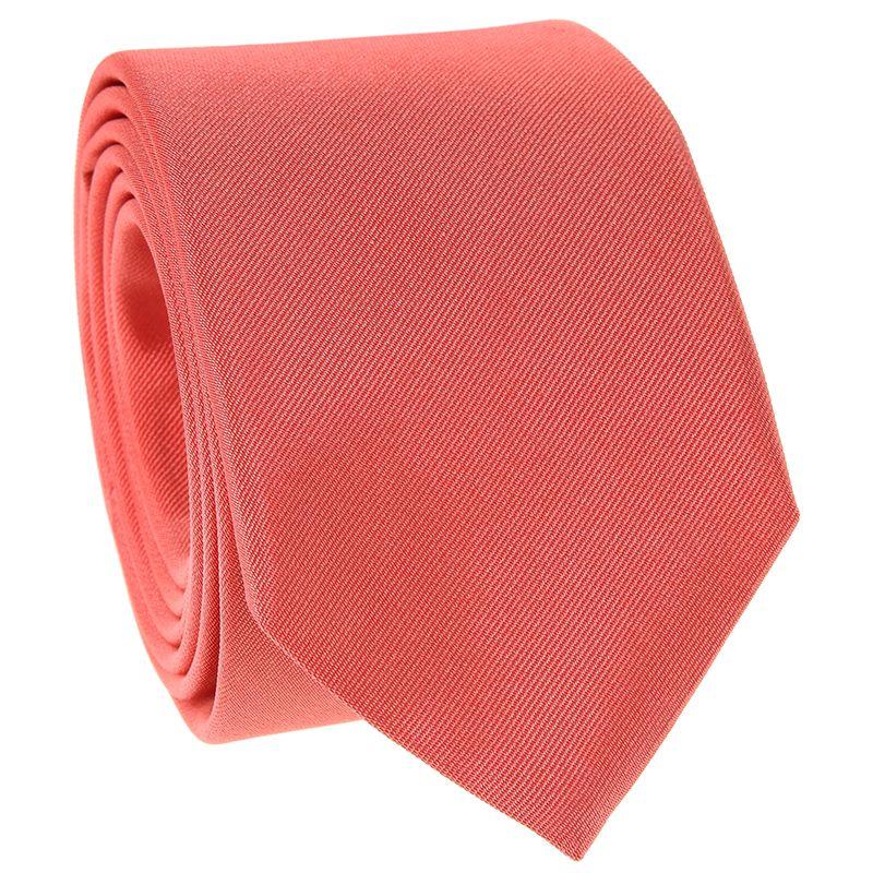 Cravate corail en soie - Côme