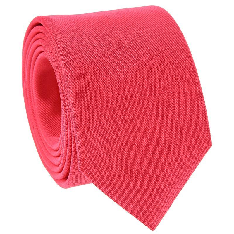 Cravate rose corail en soie - Côme