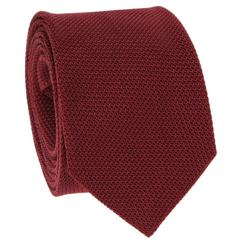 Cravate grenadine de soie bordeaux The Nines - Grenadines IV