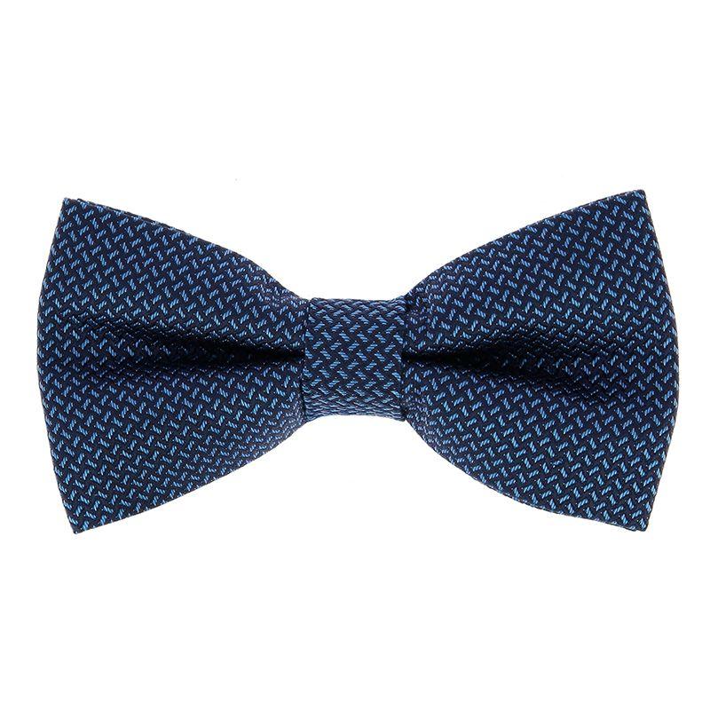 Nœud Papillon à motifs jacquard bleu marine et bleu ciel en soie