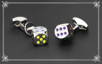 Boutons de manchette Tateossian - Real Dice Colour