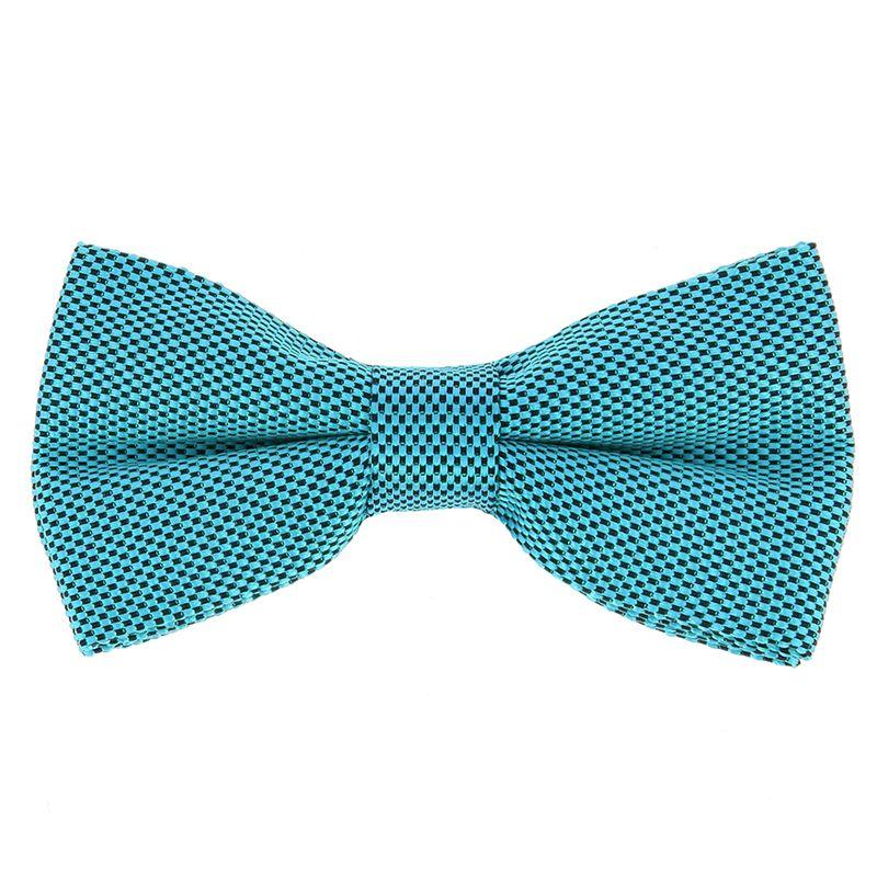 Nœud Papillon bleu lagon en soie nattée - Saint-Honoré