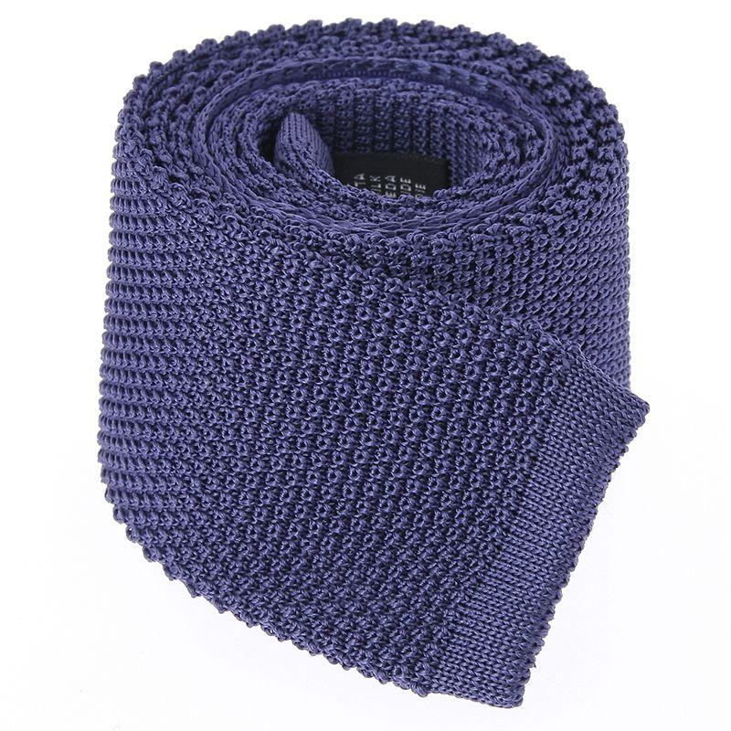 Cravate Tricot bleu indigo en soie - Monza