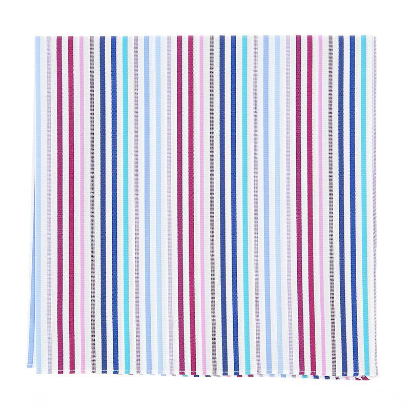 Pochette de costume à rayures multicolores
