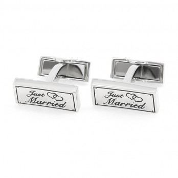 Boutons de manchette mariage - Just Married