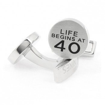 "Boutons de manchette ""Life begins at 40"""