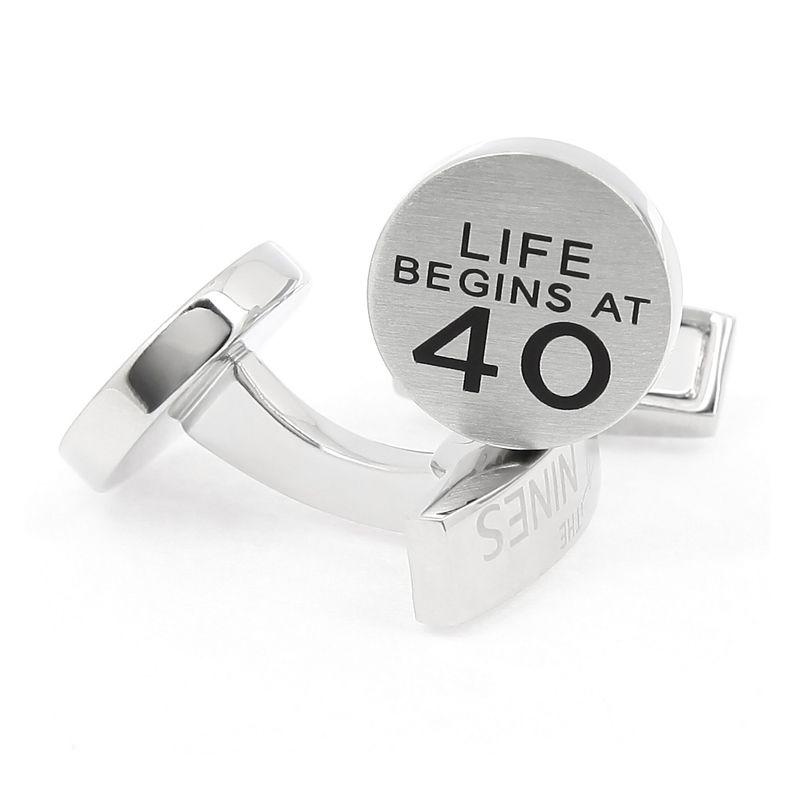 Boutons de manchette - Life begins at 40