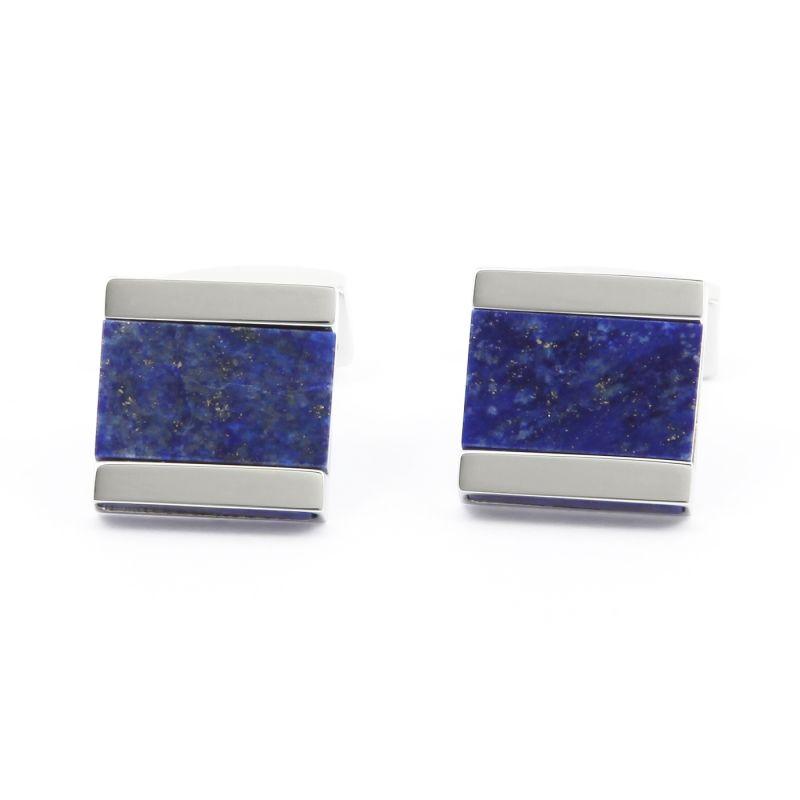 Boutons de manchette carrés en lapis lazuli - Minkebe