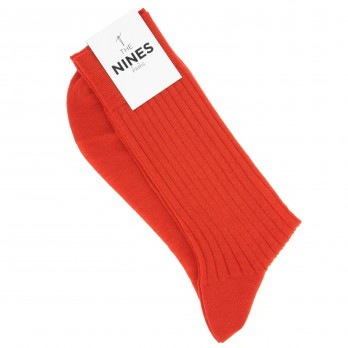 Chaussettes Laine Vierge Rouge Coquelicot
