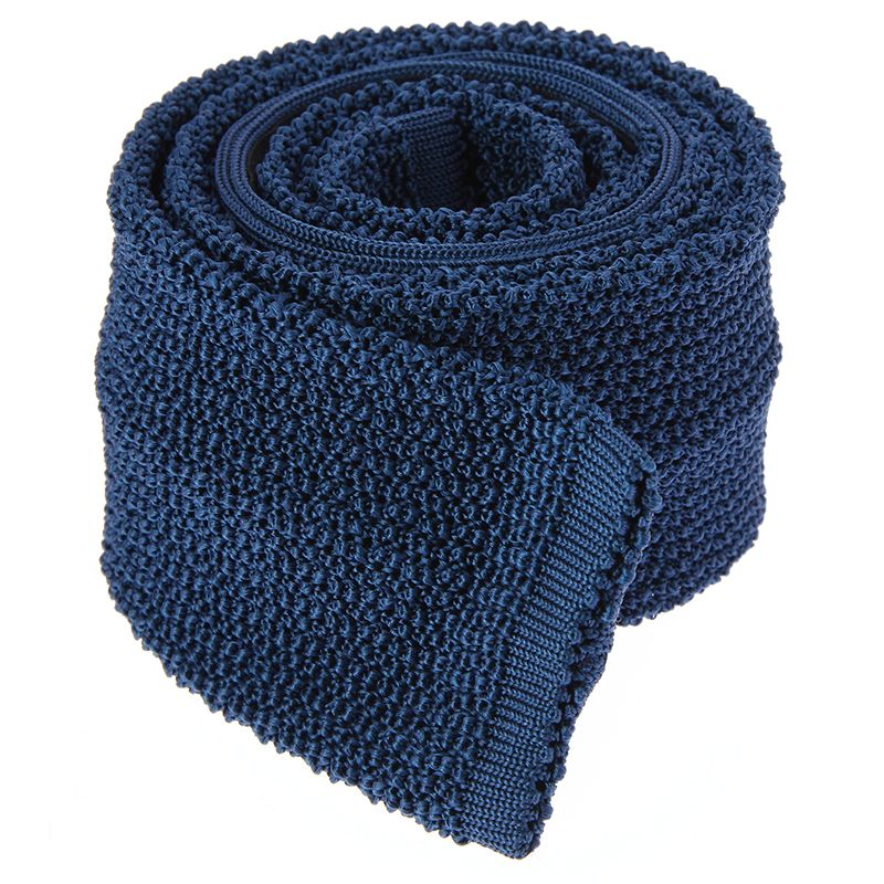 Cravate Tricot Bleu - Crunchy