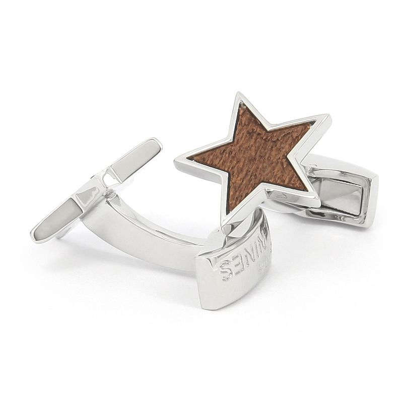 Boutons de manchette étoile en bois