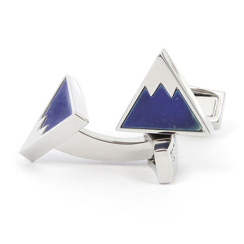 Boutons de manchette montagne en lapis lazuli - Aspen