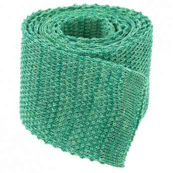 Cravate tricot lin chiné verte