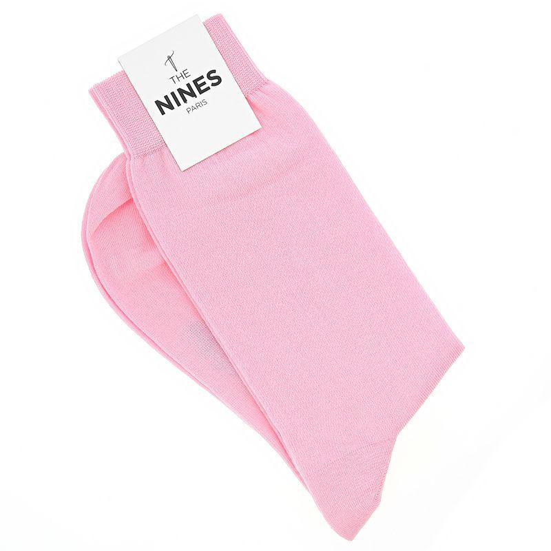 Chaussettes coton peigné rose - Carlo