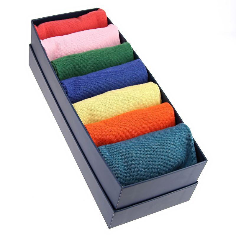 Semainier chaussettes coton peigné couleurs vives - Carlo