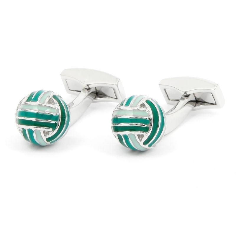 Boutons de manchette boules nuances de vert - Cambon