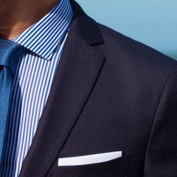 Le costume 365 : natté bleu marine