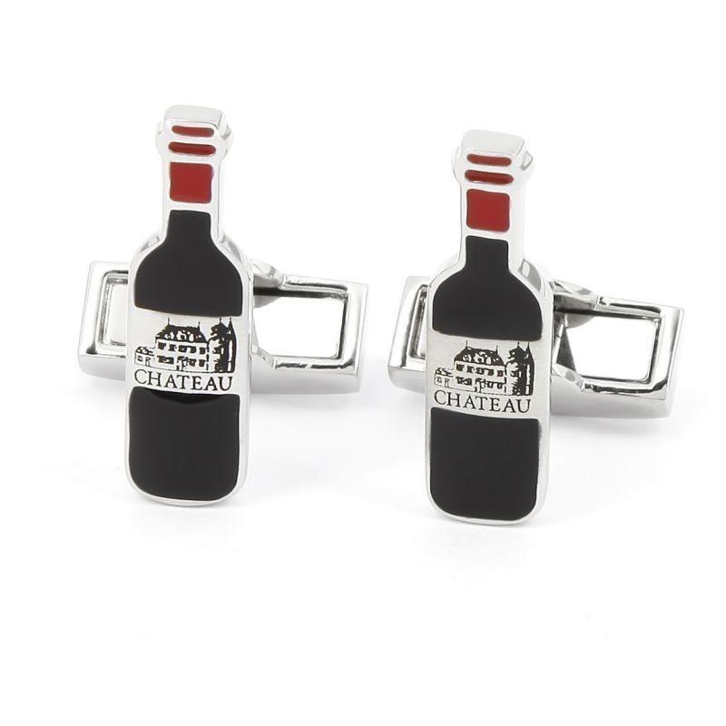 Boutons de manchette bouteille de vin - Château