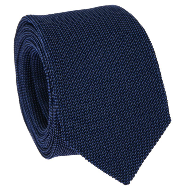 Cravate bleu cobalt en grenadine de soie - Grenadine IV