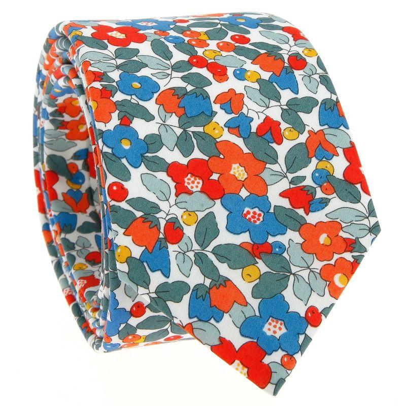Cravate Liberty corail - Currant