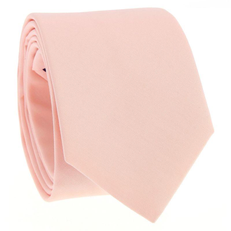 Cravate en coton rose pêche - Sorrente