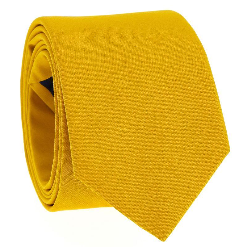 Cravate en coton jaune moutarde - Sorrente