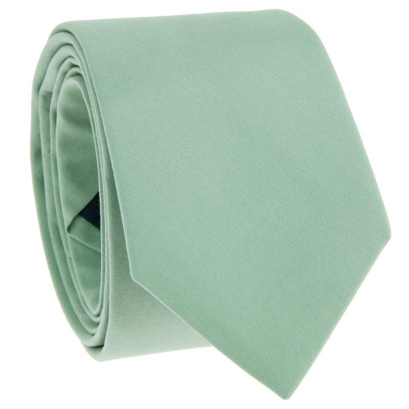 Cravate en coton vert sauge - Sorrente