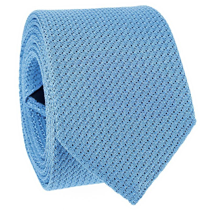 Cravate grenadine de soie bleu ciel - Grenadines III