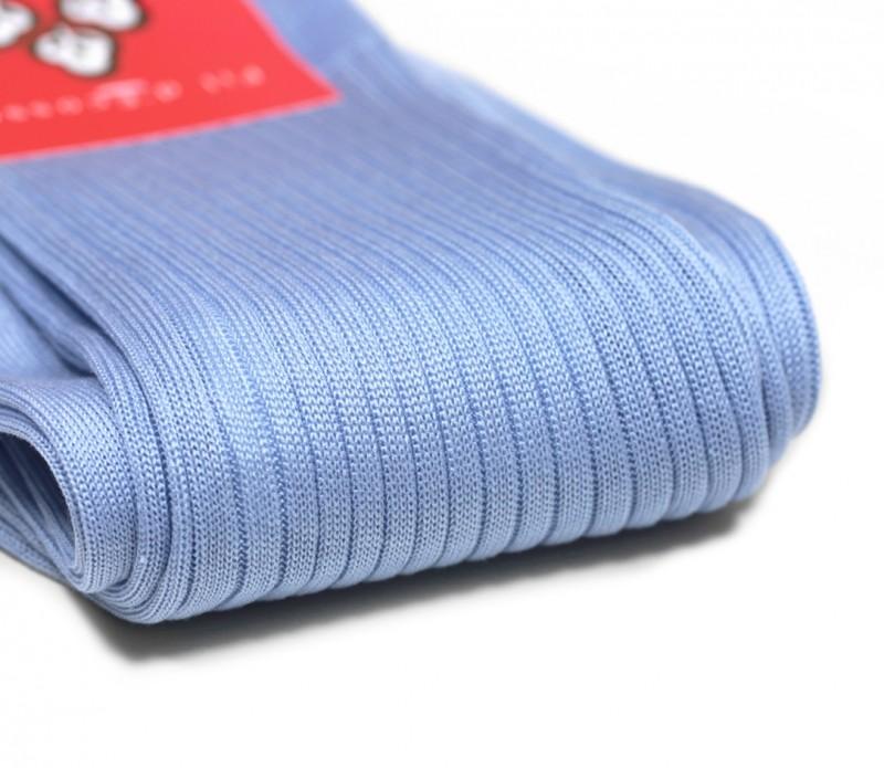 chaussettes fil d 39 cosse bleu ciel c tes fines di carlo le chaussetier. Black Bedroom Furniture Sets. Home Design Ideas