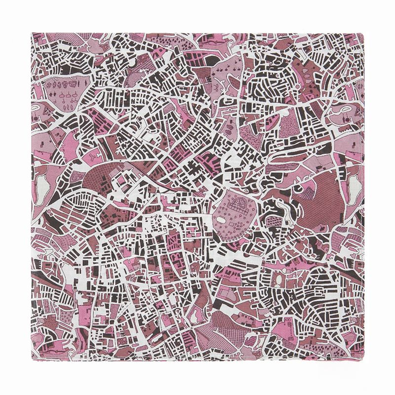 Pochette de costume Liberty rose carte de Londres