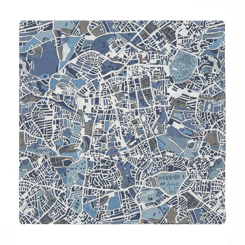 Pochette de costume Liberty bleue carte de Londres