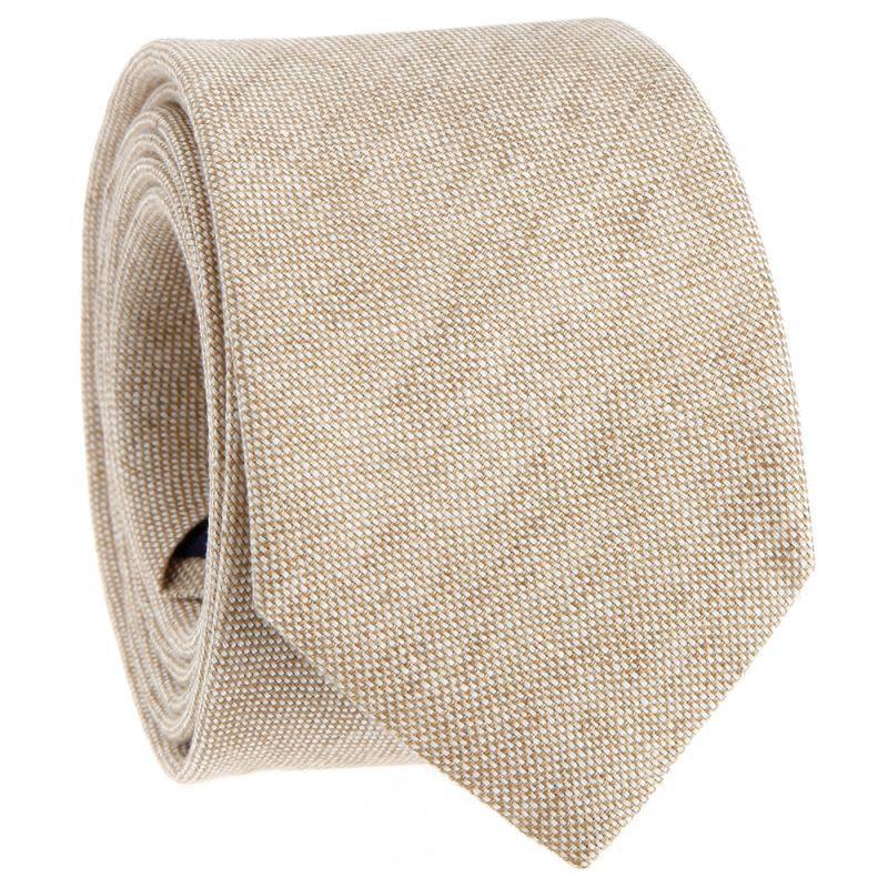 Cravate beige en lin
